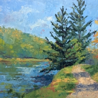 Around the Next Bend-18x24 Available at Blowing Rock Frameworks and Gallery