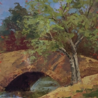 Bridge at Bass Lake 8x10 Available at Blowing Rock Frameworks and Gallery
