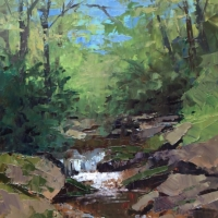 Creek Meditation 11x14 Available at Blowing Rock Frameworks and Gallery