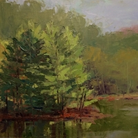 Evergreen Island 12x16 Available at Blowing Rock Frameworks and Gallery
