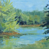 From the Other Side 14x18 Available at Blowing Rock Frameworks and Gallery