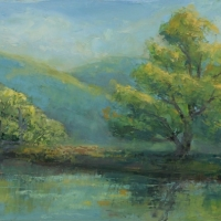 Golden Hour 12x24 Available at Blowing Rock Frameworks and Gallery