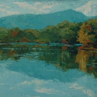 Reflections Price Lake - 18x24 Available at Blowing Rock Frameworks and Gallery