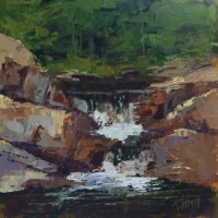 Worth the Hike, 10x10, Available at Blowing Rock Frameworks and Gallery