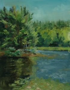 Bass Lake, Plein Air, Oil Painting, Landscapes