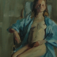 Blue Robe, 12x16, oil/board