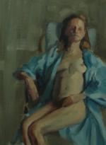 Blue Robe, 12x16, Oil/Board